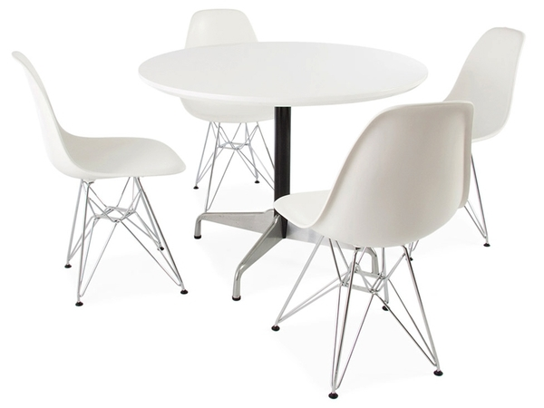 Mesa Eames Contract y 4 sillas