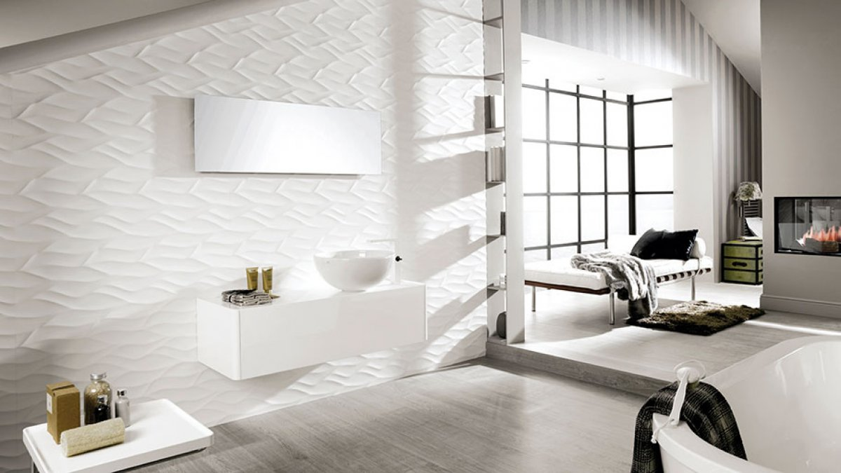Relieves by Venis: texturas de pared que brillan con luz propia