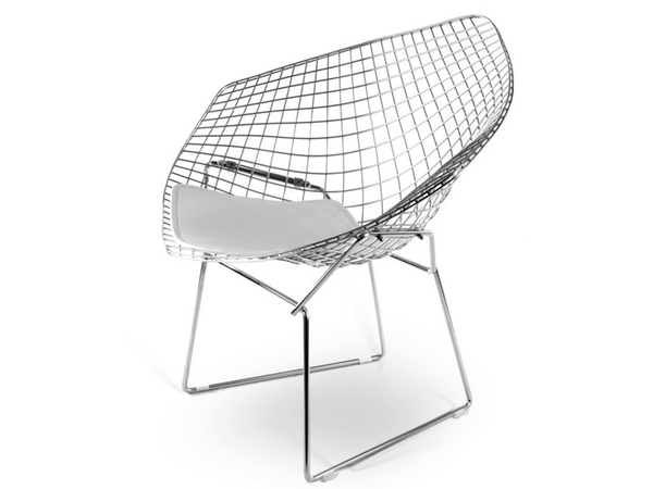 Silla Bertoia Wire Diamond - Blanco