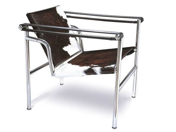 Silla LC1 Le Corbusier - Pony marrón